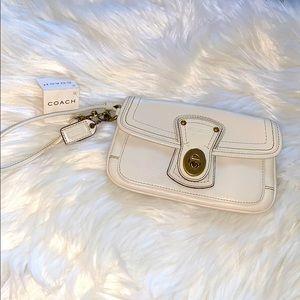 Coach Legacy Wristlet Leather Turnlock Wallet